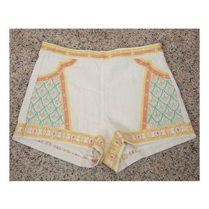 🆕️Anthropologie Embroidered Linen Shorts